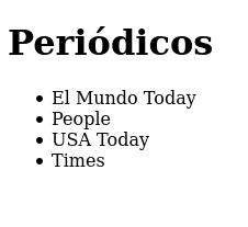 Actividad periodicos