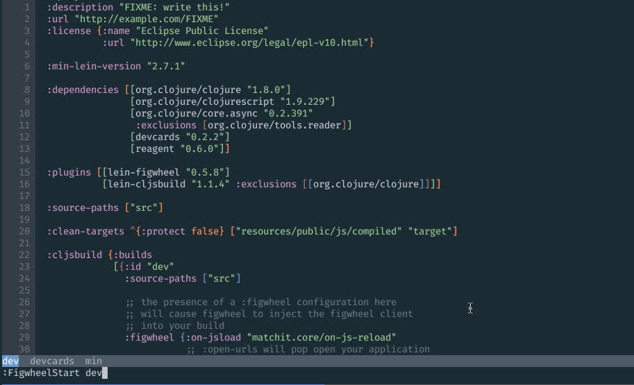 Neovim con Fireplace plugin