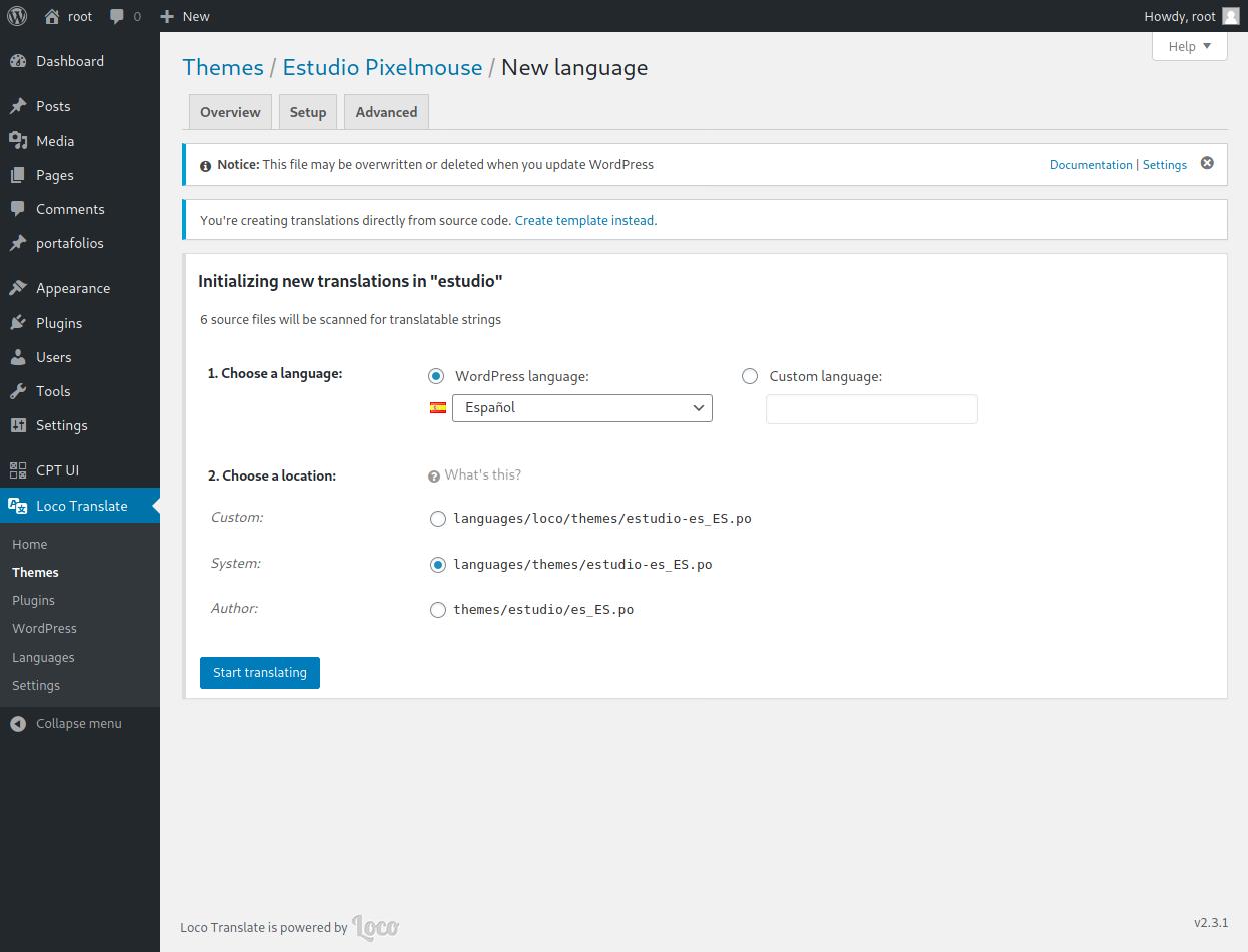 WordPress multidioma