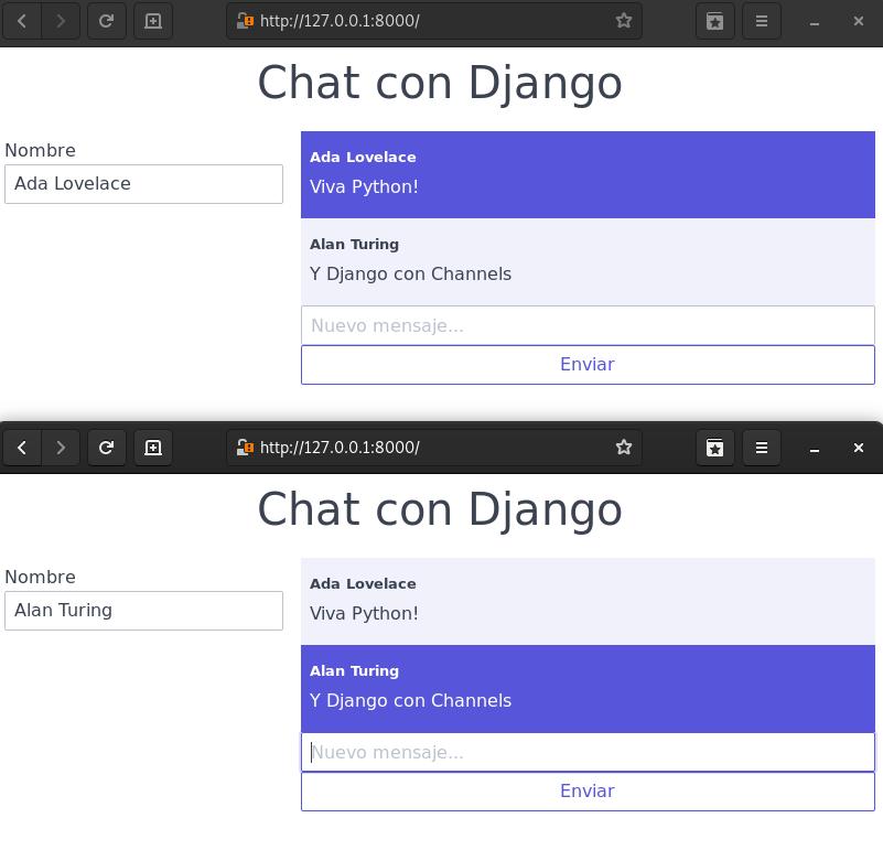 Conversación en chat